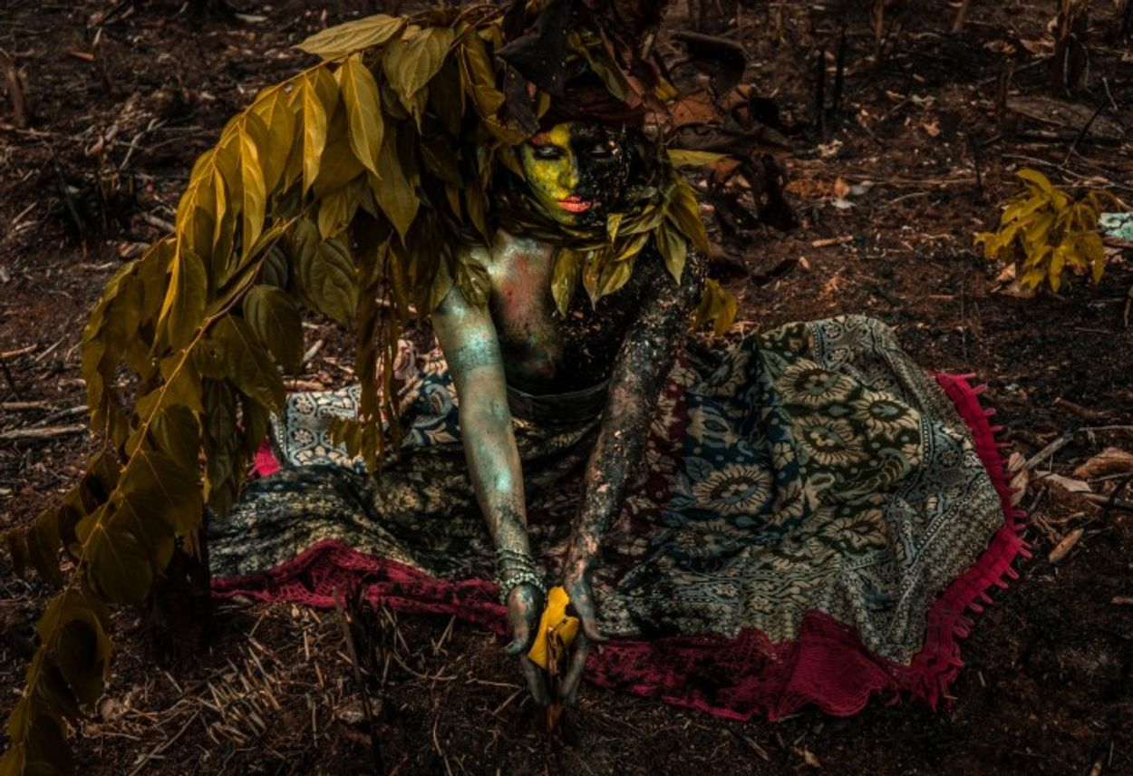 Kunstenaar Emerson Munduruku  in Brazilië