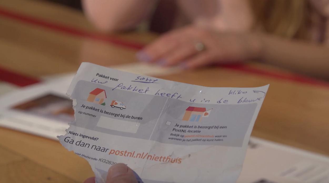 Briefje PostNL